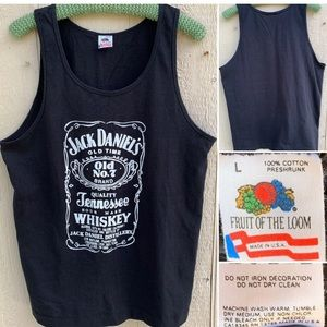 Vintage Jack Daniels Tennessee Whiskey Tank Top L